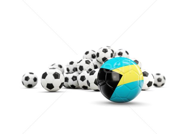 Football with flag of bahamas isolated on white Stock photo © MikhailMishchenko
