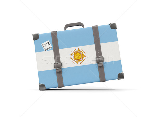 Luggage with flag of argentina. Suitcase isolated on white Stock photo © MikhailMishchenko
