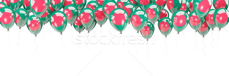 Balões quadro bandeira Bangladesh isolado branco Foto stock © MikhailMishchenko