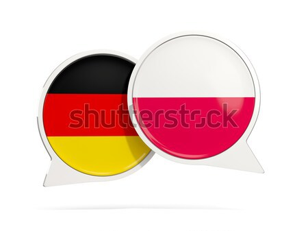 Chat bubbles of Germany and Poland isolated on white Stock photo © MikhailMishchenko