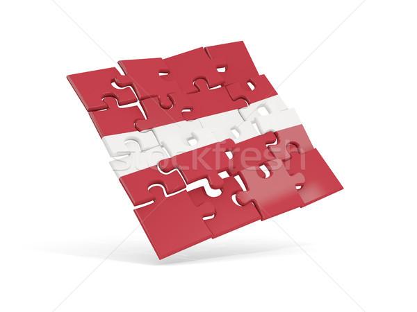 Puzzle zászló Lettország izolált fehér 3d illusztráció Stock fotó © MikhailMishchenko