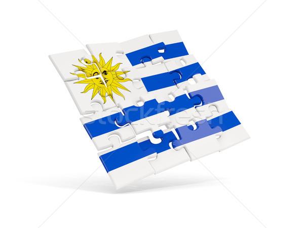 головоломки флаг Уругвай изолированный белый 3d иллюстрации Сток-фото © MikhailMishchenko