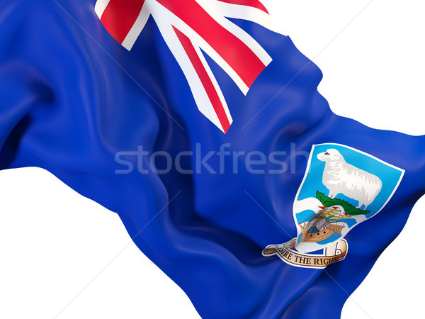Integet zászló Falkland-szigetek közelkép 3d illusztráció utazás Stock fotó © MikhailMishchenko