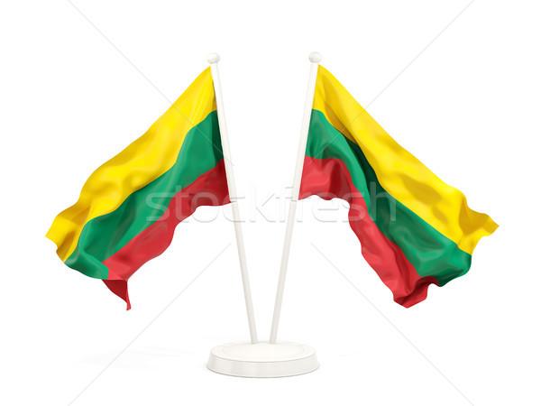 2 フラグ リトアニア 孤立した 白 ストックフォト © MikhailMishchenko