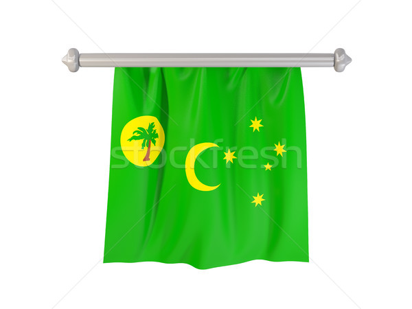 Pennant with flag of cocos islands Stock photo © MikhailMishchenko