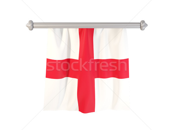 Bandera Inglaterra aislado blanco 3d etiqueta Foto stock © MikhailMishchenko
