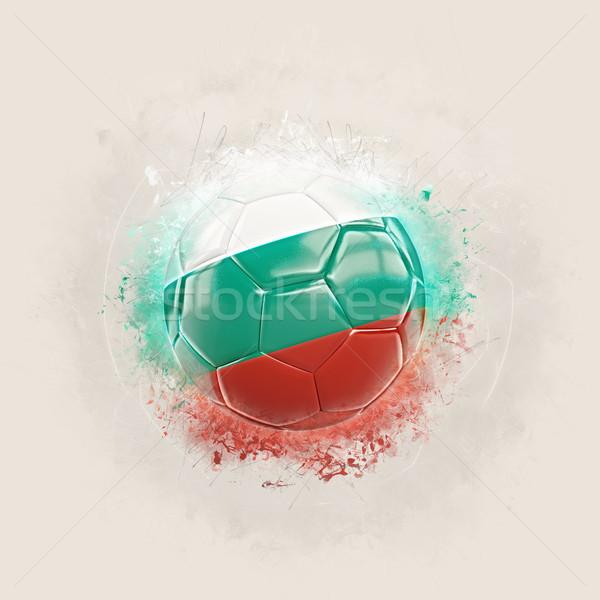 Grunge voetbal vlag Bulgarije 3d illustration wereld Stockfoto © MikhailMishchenko
