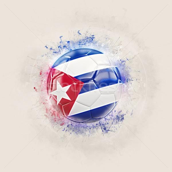 Grunge football pavillon Cuba 3d illustration monde Photo stock © MikhailMishchenko
