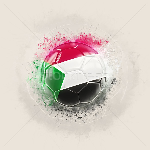 Grunge football with flag of sudan Stock photo © MikhailMishchenko