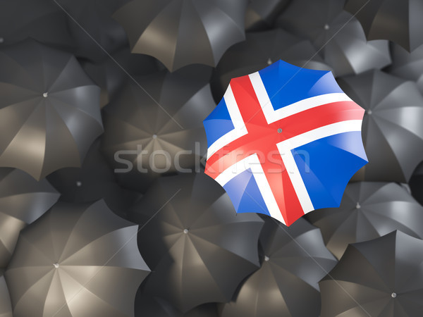 Umbrella with flag of iceland Stock photo © MikhailMishchenko