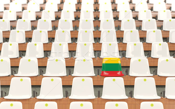 スタジアム 座席 フラグ リトアニア 白 ストックフォト © MikhailMishchenko