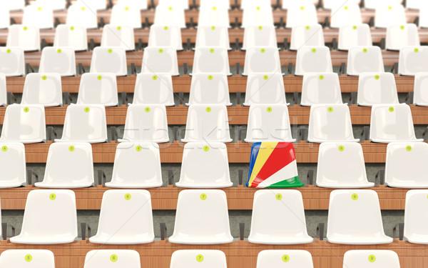 Stadium seat with flag of seychelles Stock photo © MikhailMishchenko