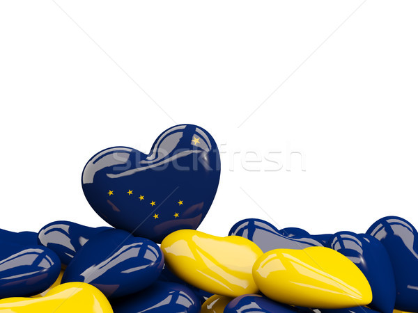 Coração Alasca bandeira Estados Unidos local Foto stock © MikhailMishchenko