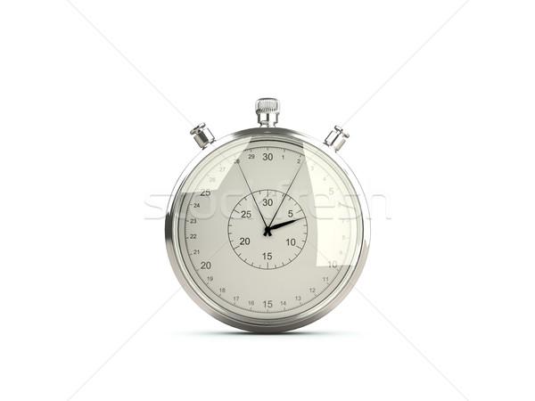 Stopwatch isolated on white Stock photo © MikhailMishchenko