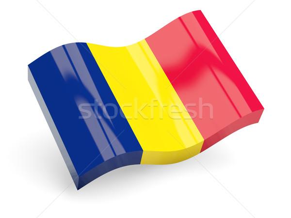 3D bandera Chad aislado blanco ola Foto stock © MikhailMishchenko