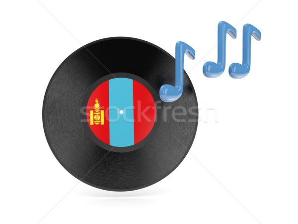 Vinyl disk with flag of mongolia Stock photo © MikhailMishchenko
