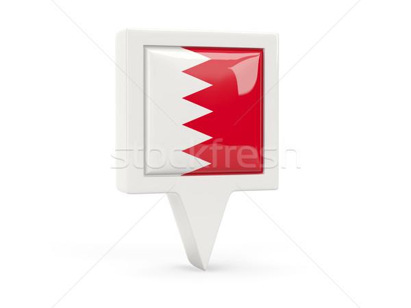 Praça bandeira ícone Bahrein isolado branco Foto stock © MikhailMishchenko