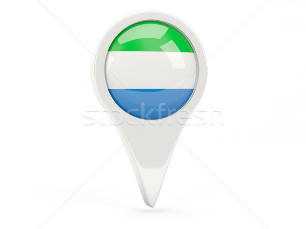 Round flag icon of sierra leone Stock photo © MikhailMishchenko