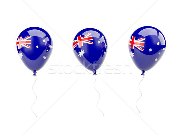 Air balloons with flag of australia Stock photo © MikhailMishchenko