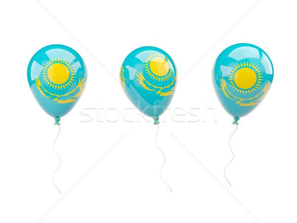 воздуха шаров флаг Казахстан изолированный белый Сток-фото © MikhailMishchenko