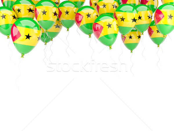 Balloon frame with flag of sao tome and principe Stock photo © MikhailMishchenko