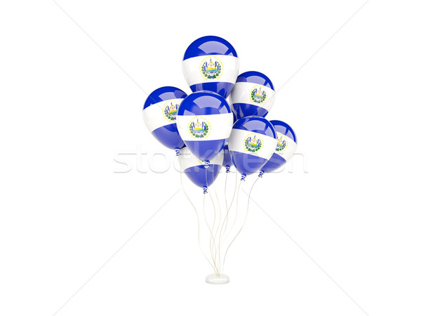 Flying balloons with flag of el salvador Stock photo © MikhailMishchenko