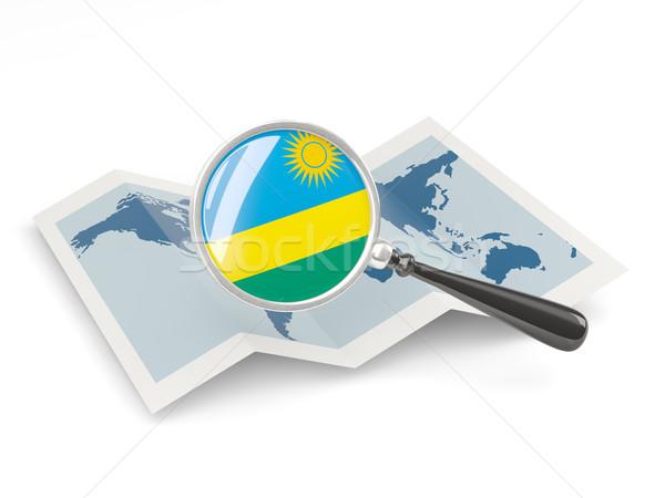 Pavillon Rwanda carte Voyage Photo stock © MikhailMishchenko