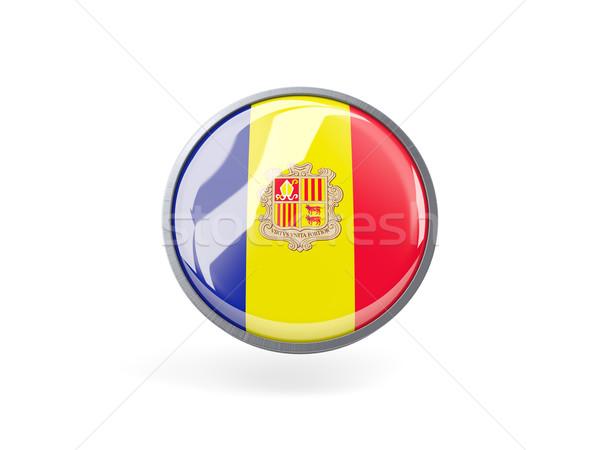 Round icon with flag of andorra Stock photo © MikhailMishchenko