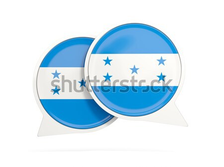 ícone bandeira Honduras metal quadro viajar Foto stock © MikhailMishchenko