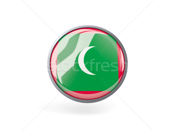 Round icon with flag of maldives Stock photo © MikhailMishchenko
