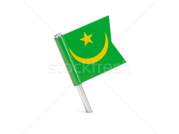 Flag pin of mauritania Stock photo © MikhailMishchenko