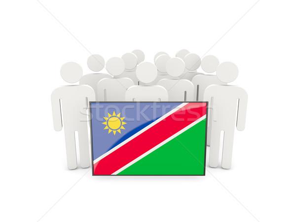 люди флаг Намибия изолированный белый толпа Сток-фото © MikhailMishchenko