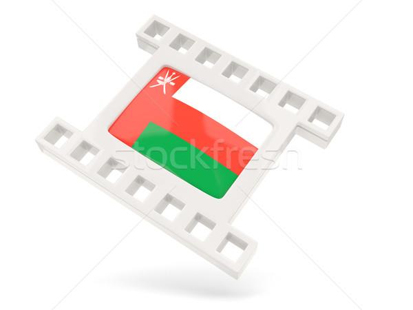 Film ikon bayrak Umman yalıtılmış beyaz Stok fotoğraf © MikhailMishchenko