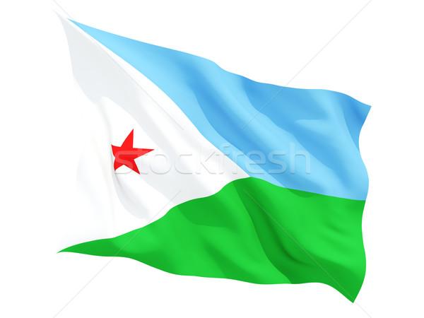 Banderą Dżibuti odizolowany biały Zdjęcia stock © MikhailMishchenko