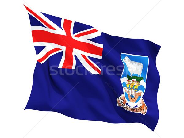 Integet zászló Falkland-szigetek izolált fehér Stock fotó © MikhailMishchenko