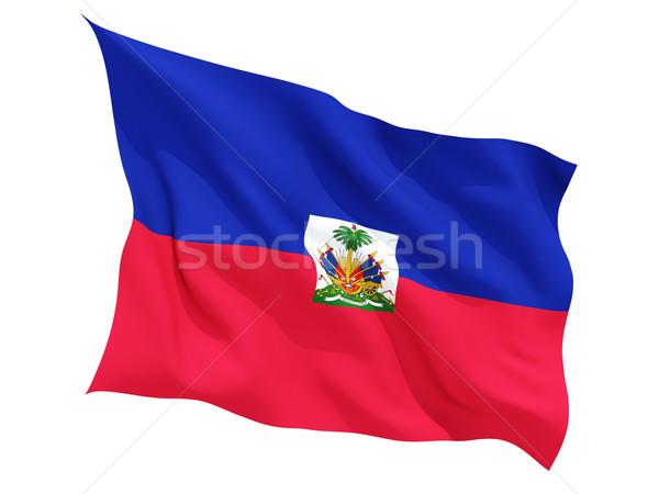 Bandiera Haiti isolato bianco Foto d'archivio © MikhailMishchenko