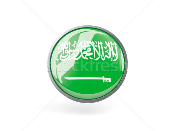 ícone bandeira Arábia Saudita metal quadro viajar Foto stock © MikhailMishchenko