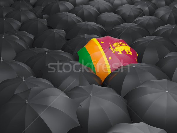 Umbrella with flag of sri lanka Stock photo © MikhailMishchenko