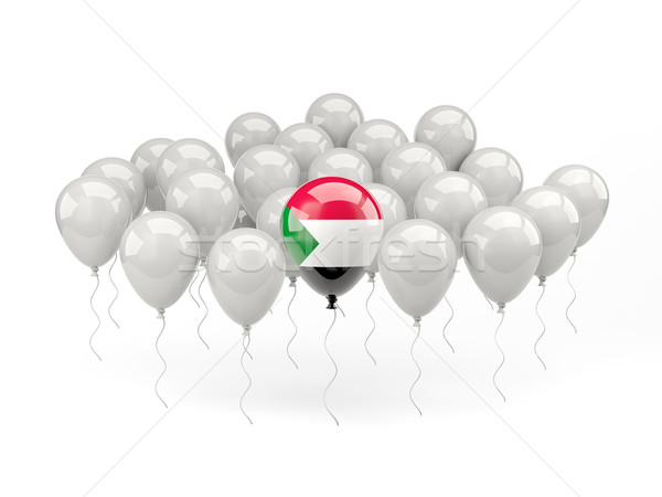 Air balloons with flag of sudan Stock photo © MikhailMishchenko