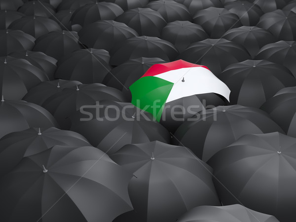 Umbrella with flag of sudan Stock photo © MikhailMishchenko