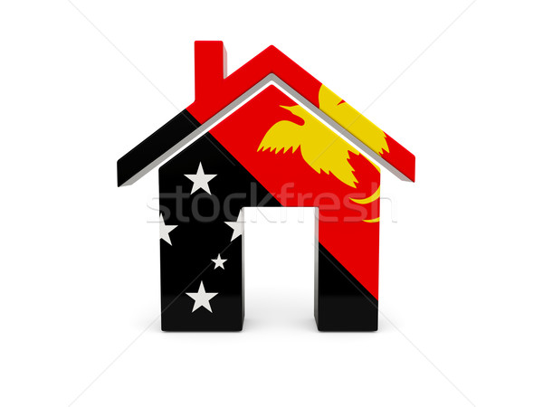 Home vlag Papoea-Nieuw-Guinea geïsoleerd witte Zoek Stockfoto © MikhailMishchenko