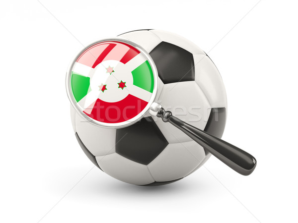 Football with magnified flag of burundi Stock photo © MikhailMishchenko