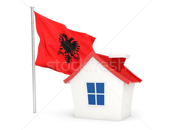 House with flag of albania Stock photo © MikhailMishchenko