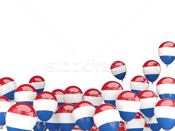 Unter Ballons Flagge Niederlande isoliert weiß Stock foto © MikhailMishchenko