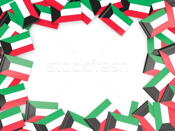 Frame with flag of kuwait Stock photo © MikhailMishchenko