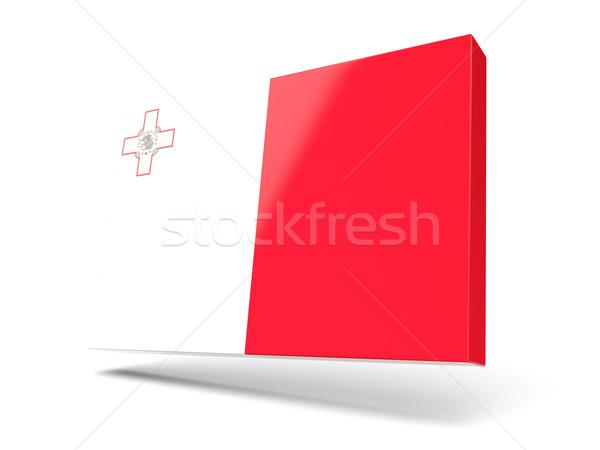 Cuadrados icono bandera Malta aislado blanco Foto stock © MikhailMishchenko