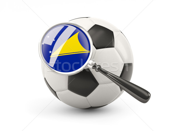 Football with magnified flag of tokelau Stock photo © MikhailMishchenko
