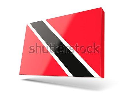 Square icon with flag of trinidad and tobago Stock photo © MikhailMishchenko