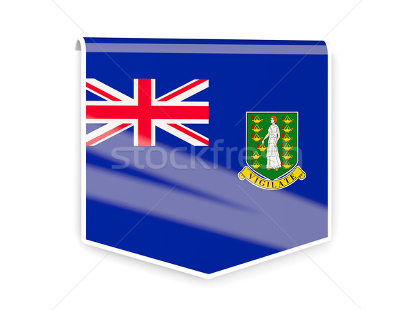 флаг Label Виргинские о-ва британский изолированный белый Сток-фото © MikhailMishchenko