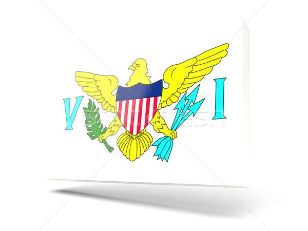Tér ikon zászló Virgin-szigetek izolált fehér Stock fotó © MikhailMishchenko